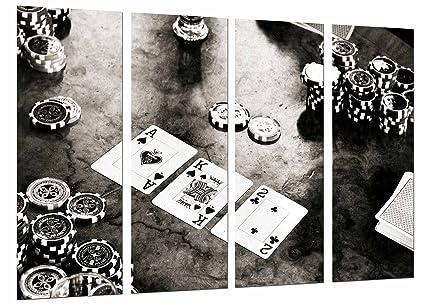 Cuadro Fotográfico Juego Mesa, Casino Cartas Poker Fichas ...