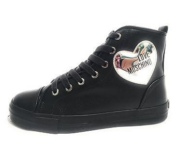 Love Moschino Baskets Pour Femme Noir Noir - Noir - Noir, 41 EU