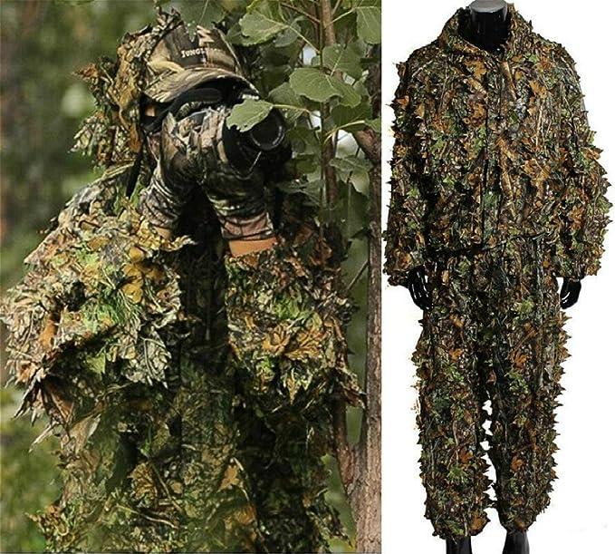 Amazon.com: Isafish Ghillie - traje de caza camuflado, con ...