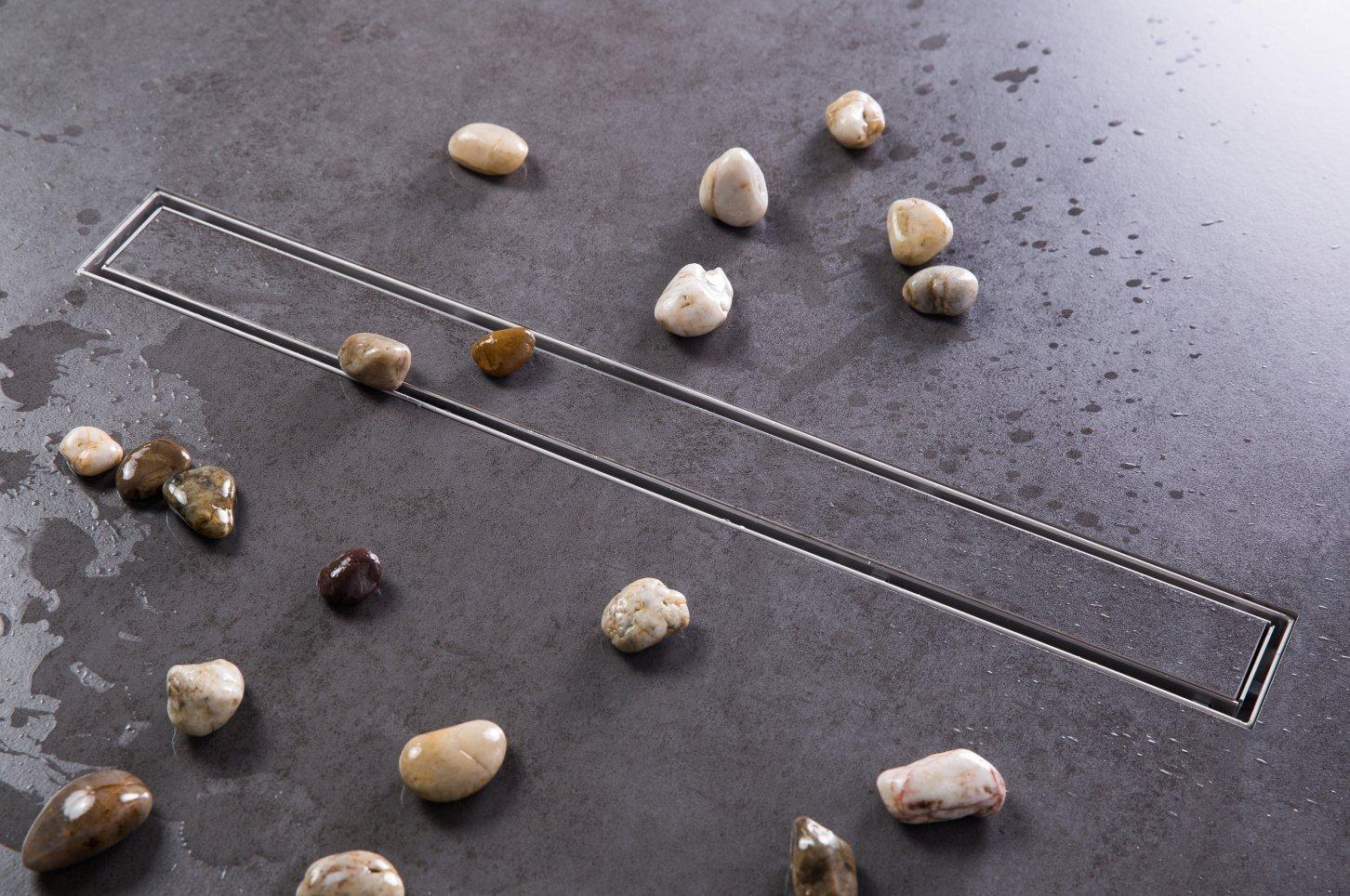 Duschrinne Siphon 70cm Edelstahl Ablaufrinne Geruchsstop Bodenablauf Duschablauf Bodenbefestigung Ma/ße von 50 bis 100cm w/ählar