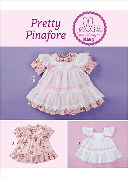 XXS-L Simplicity 1205 Baby Dress and Bloomers Sewing Patterns