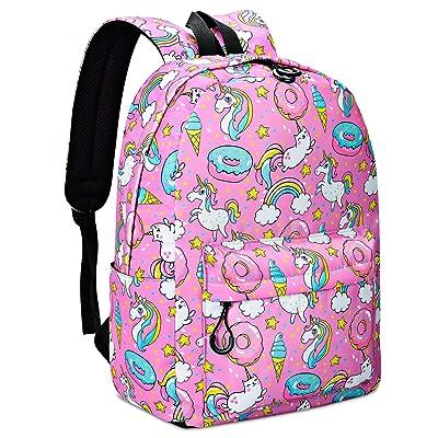 Unicorn Backpack Cute Rainbow Cat Bookbag Laptop Backpacks Funny Lightweight Bag Canvas Backpacks Purple Travel Daypack Waterproof | Kids' Backpacks