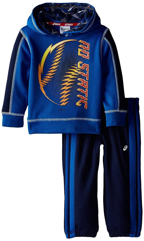 ASICS Little Boys' Toddler 2 Piece Intensity Pant Set, New Blue, 4T ASICS Boys 2-7 43216-50080