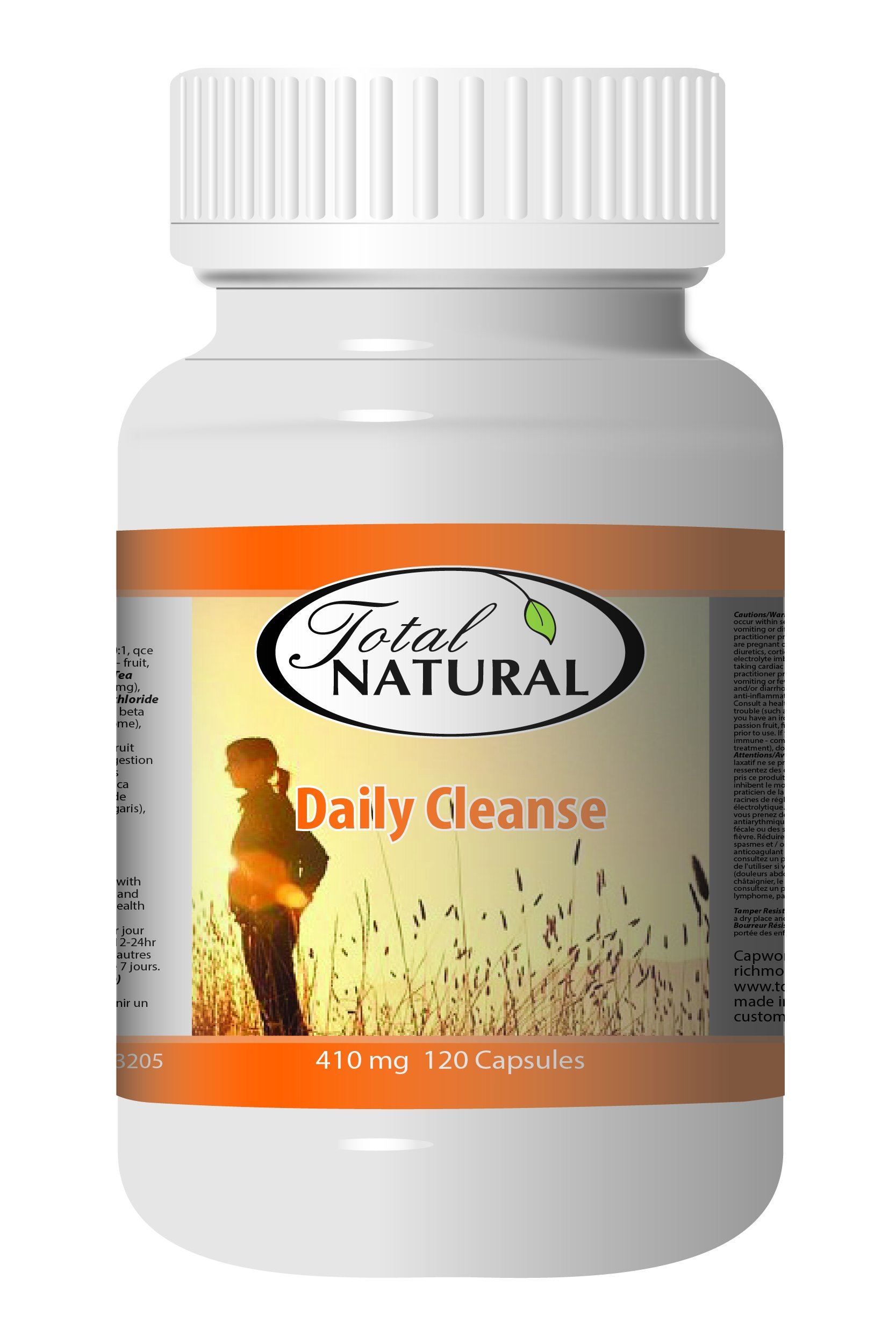 Daily Cleanse 410mg 120c - [12 bottles] Digestion And Stomach Care