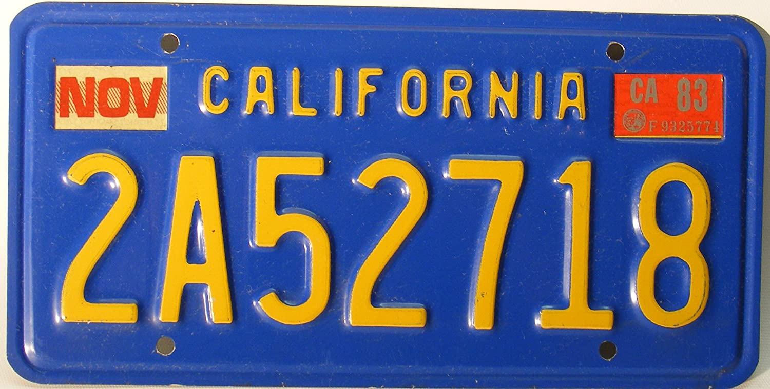 Amazon.com: California Antique Blue background with yellow letters ...