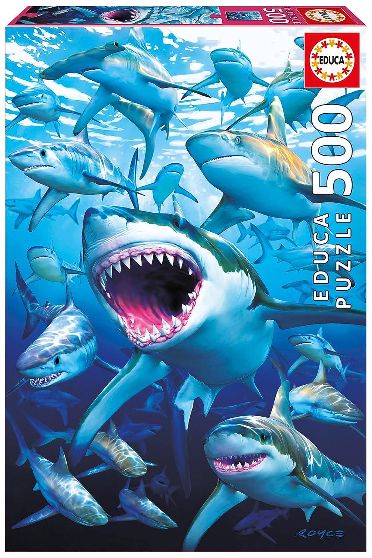 Educa Borrás - 17085.0 - Puzzle - 500 Requins - Shark Club
