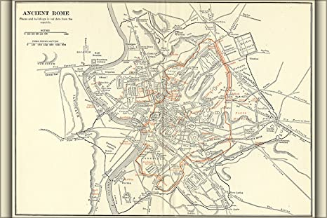 Amazon.com : 16x24 Poster; Map Of Ancient Rome, Italy During Roman ...