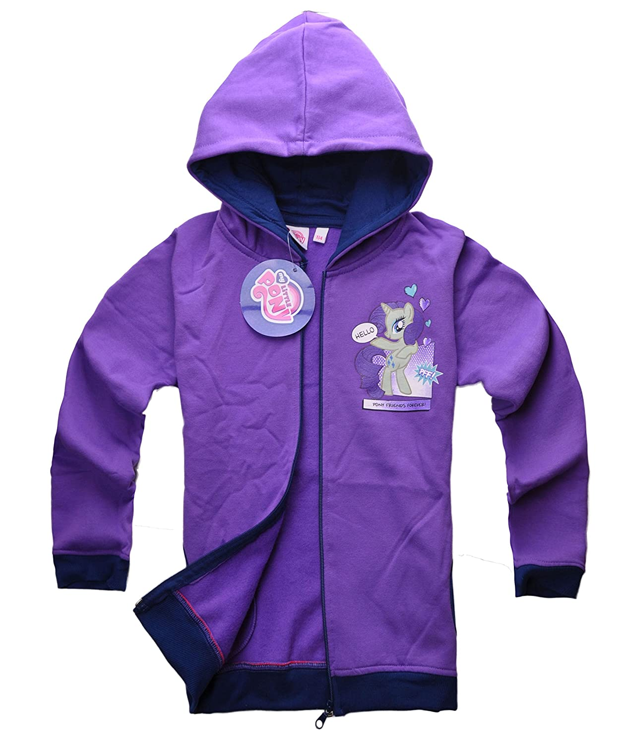100% Official Licensed My Little Pony Rainbow Dash Girls Costume Hoodie Sweatshirt