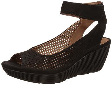 eb175d23e939 Clarks Sandals Clarene Prima Black Nubuck UK7 Black  Amazon.co.uk ...