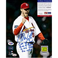 $133 » Adam Wainwright St. Louis Cardinals Ws Stats PSA/DNA Authenticated Autographed Signed 8x10