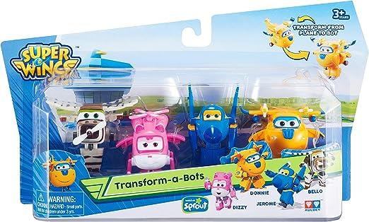 Alpha Animation & Toys Super Wings Transform-a-Bots 4pk vehículo de Juguete - Vehículos de Juguete (Multicolor, 4 año(s), 9 año(s), Niño/niña, Interior, 60 mm): Amazon.es: Juguetes y juegos