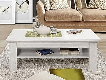 Couchtisch Kasimir 9 Pinie Weiß 120x60x45 Cm Sofatisch Beistelltisch Tisch  Wohnzimmertisch Landhausmöbel Landhausstil