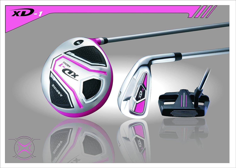 Premium Lightweight Ladies Golf Club Set Right Hand – Cherry Pink Purple, Standard, Petite, Tall, Clubs with Lady Flex