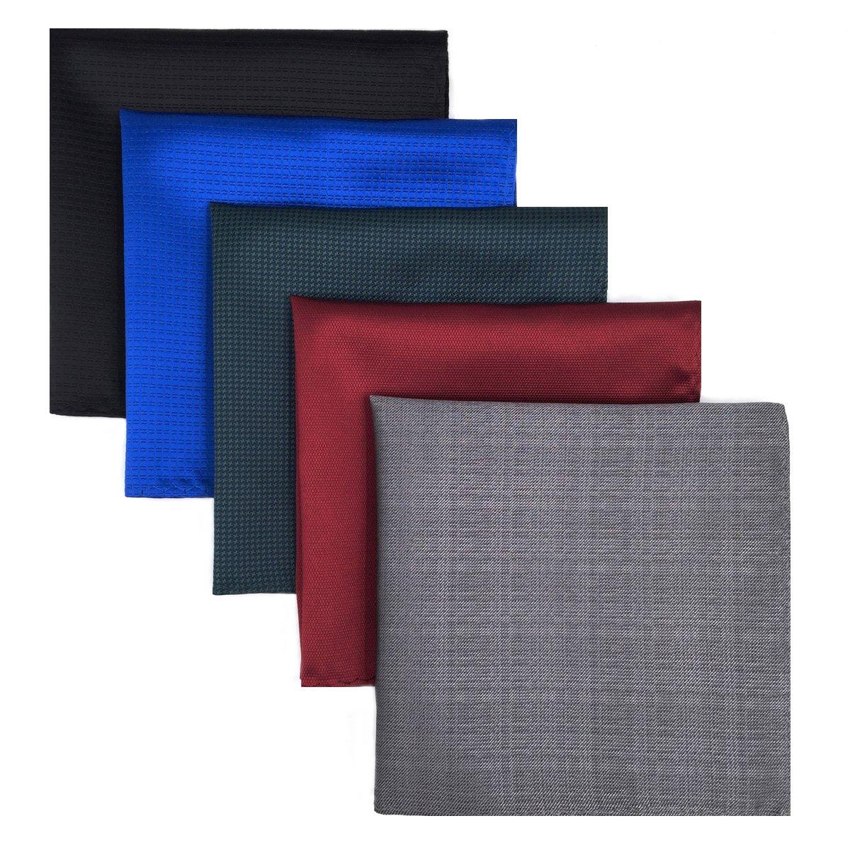 Shlax/&Wing 5 Pieces Assorted Pa/ñuelo De Bolsillo Para Hombre Handkerchiefs Set Lot