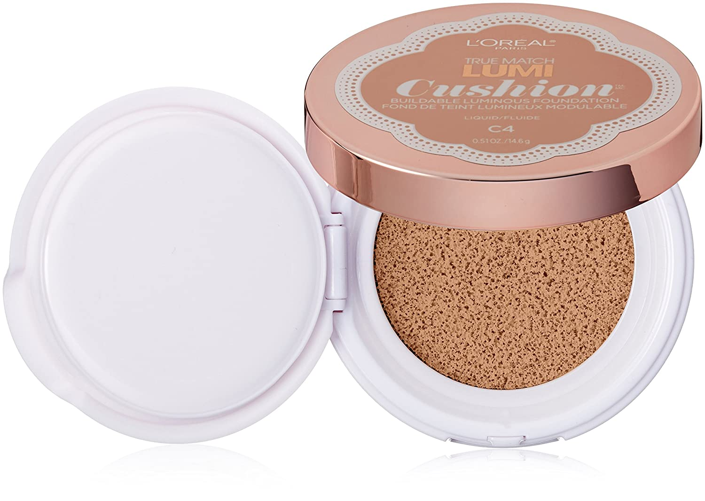 L'Oréal Paris True Match Lumi Cushion Foundation, C4 Shell Beige, 0.51 oz.