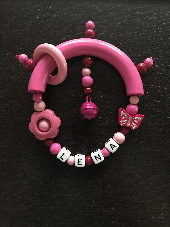 Greifling mit Name rosa