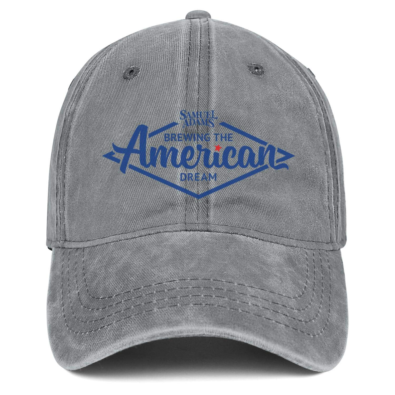 Man Woman Sam-Adams-Brewing-The-American-Dream Hats Trendy Cowboy Cap Running Caps Denim