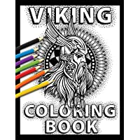 Viking Coloring Book: Celtic Norse Warriors, Berserkers, Shield