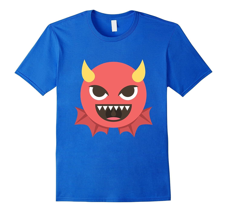 26264a43 Evil Devil Emoji Emoticon Funny T Shirt Tee Demon Krampus-RT ...