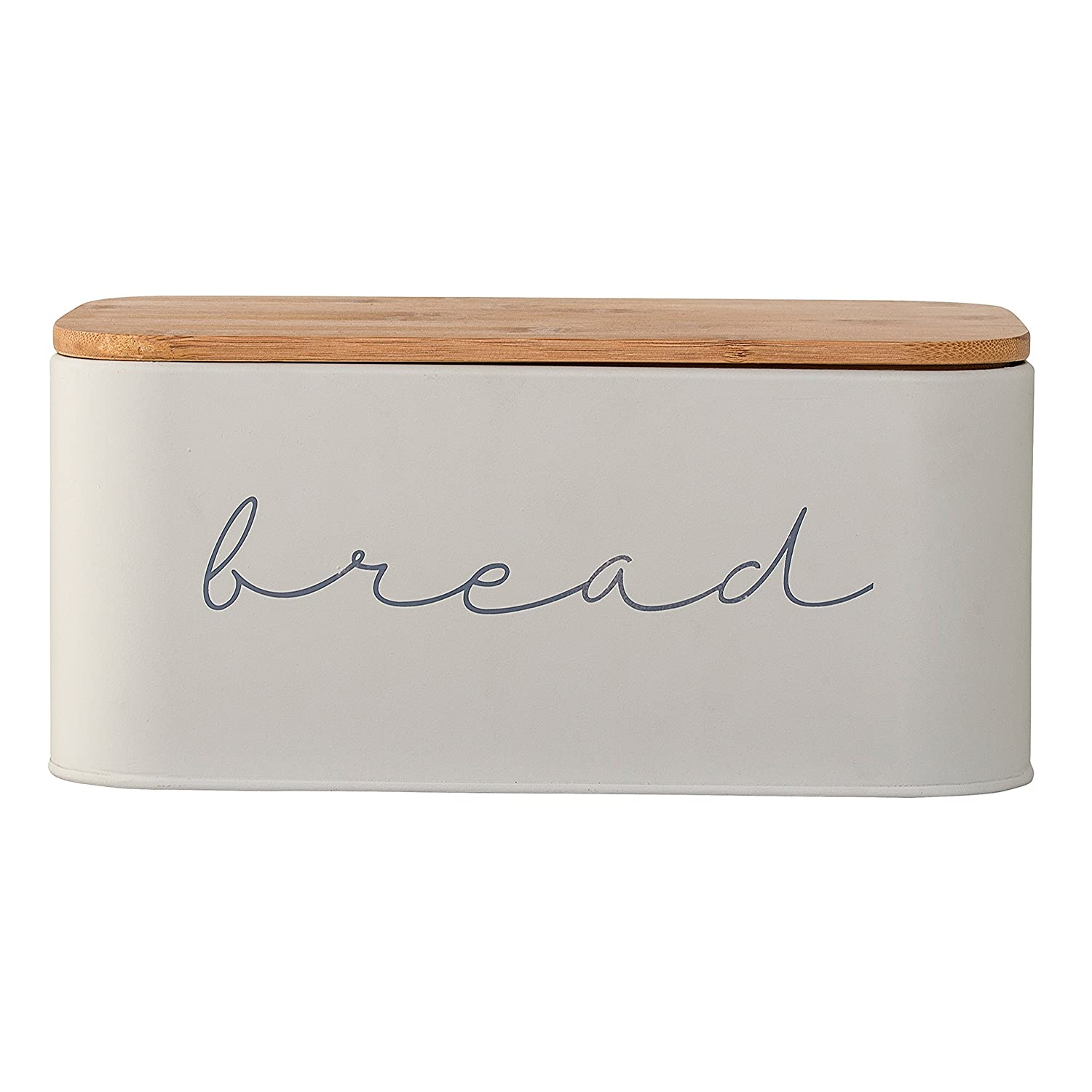 Bloomingville A97306650 MetalBread Bin with Bamboo Lid