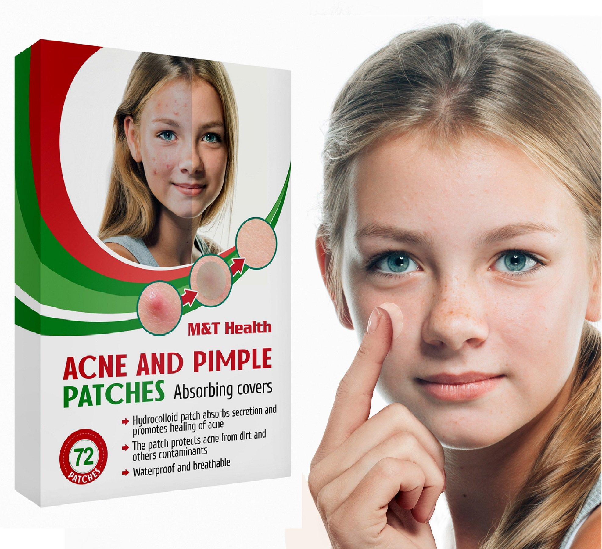 Acne Pimple Patch Hydrocolloid Bandages - 72 Count Acne Pimple Master Patch - Cosmetic Acne Patch For Face - Age Acne Treatment For Teens