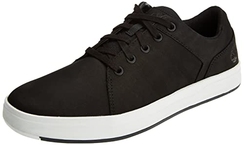 Timberland Davis Square, Zapatos de Cordones Oxford para Hombre, Negro (Black Nubuck 001), 45 EU
