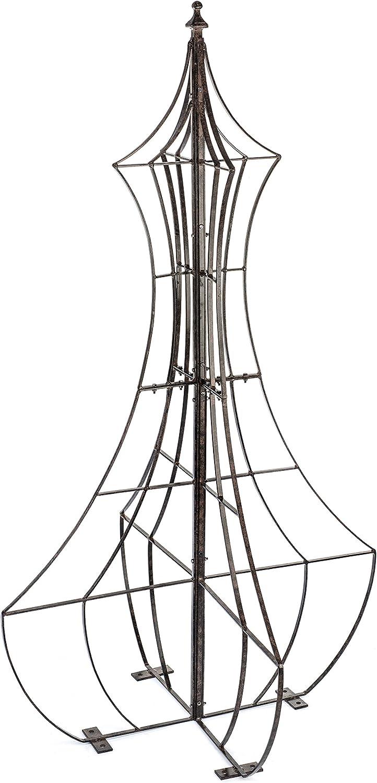H Potter Garden Trellis for Climbing Plants Wrought Iron Metal Yard Art for Patio Deck or Garden