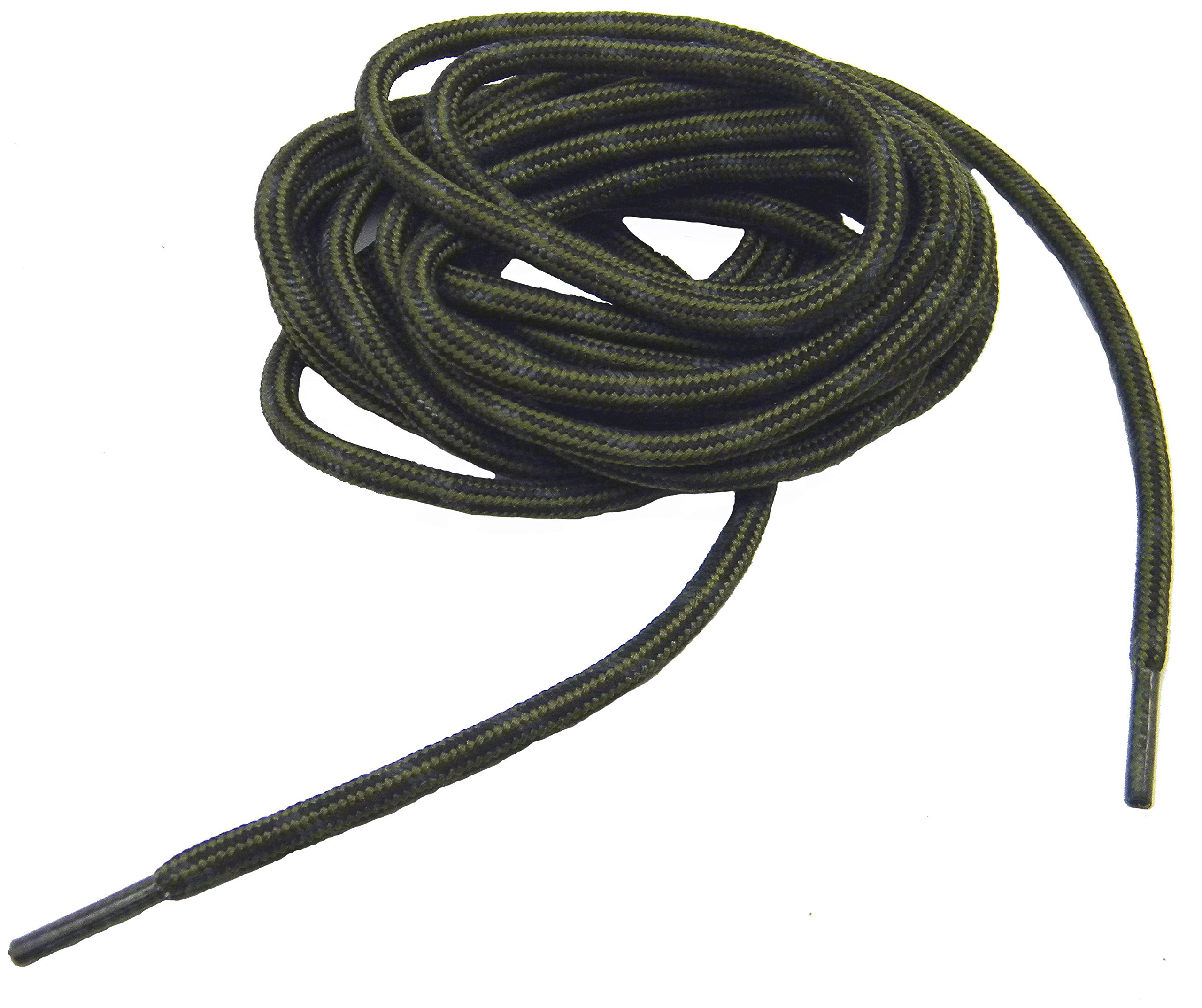 GREATLACES Olive Green w/Black Kevlar (R) proTOUGH(TM) Boot Shoelaces 2 pair pack (72 Inch 183 cm)