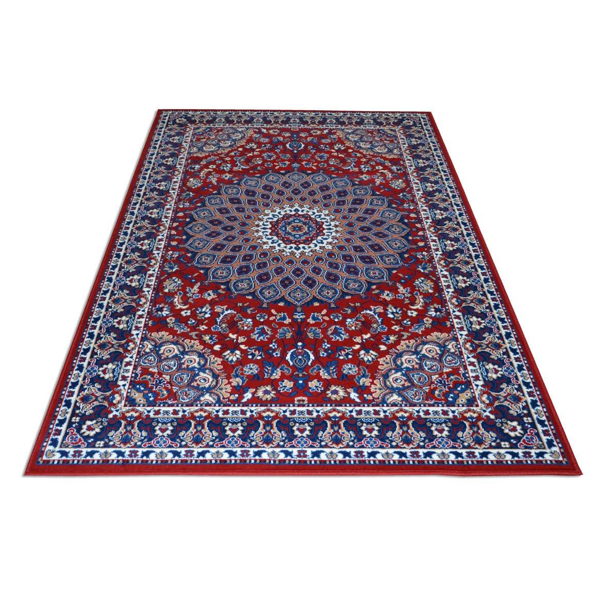 WEBTAPPETI Tris scendiletto Motivo Classico Persiano - Tappeto Economico Rosso Royal Shiraz 2082-RED PARURE