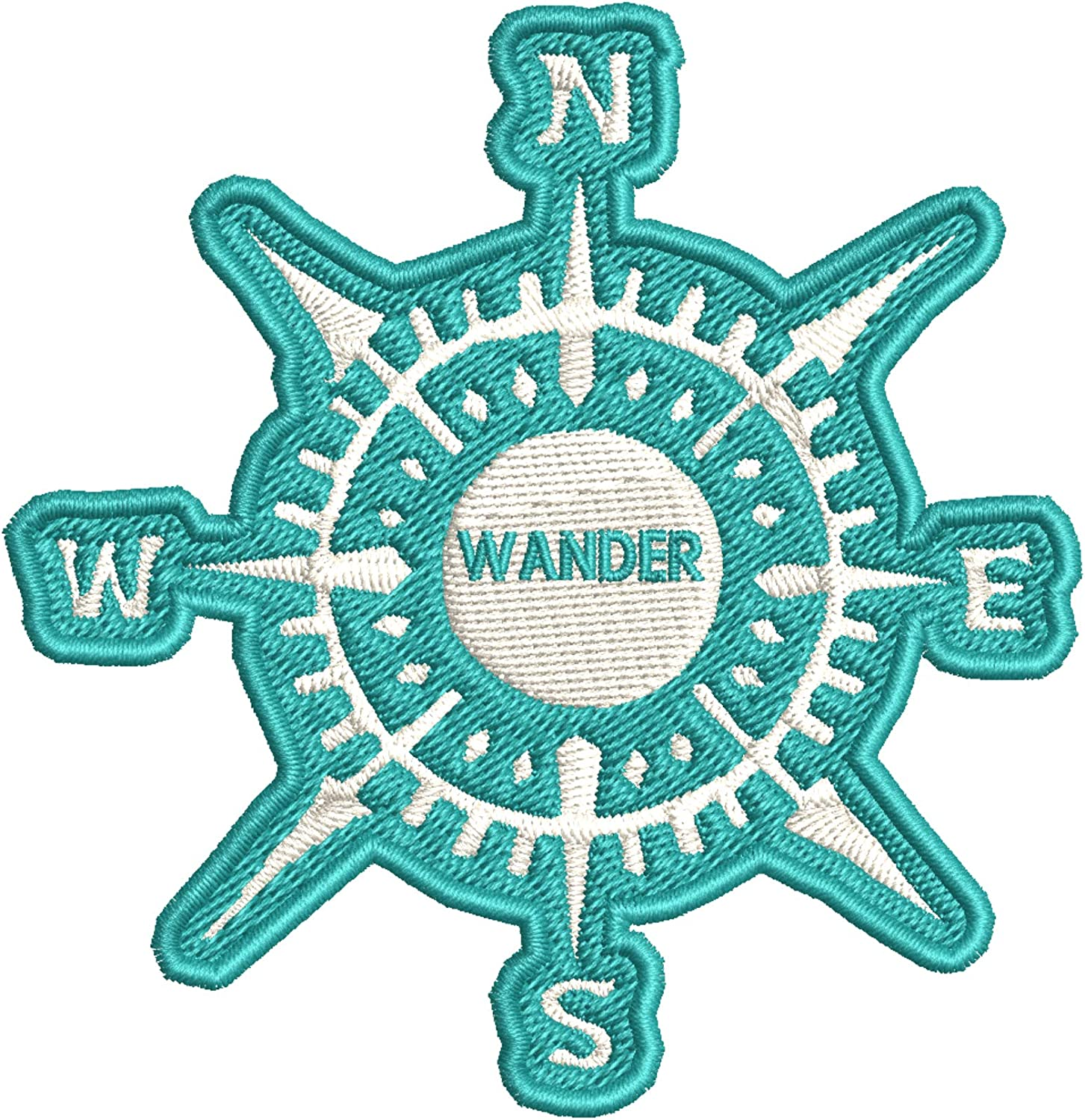 COMPASS WANDER Embroidered Patch Iron-On Sew-On Decorative Applique
