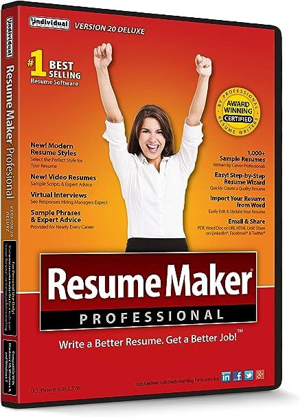 Amazon Com Resumemaker Professional Deluxe 20