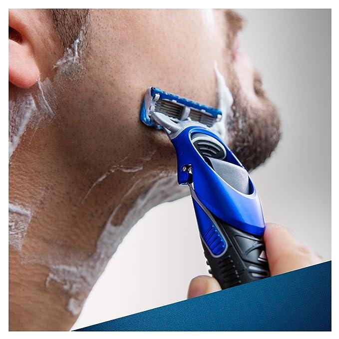 Gillette Fusion Styler -Pack de regalo para hombre, gel de afeitado Fusion hidratante de 200 ml, 3 peines