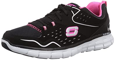 6df677603681 Skechers Synergy Front Row Womens Sneakers Black Hot Pink 6