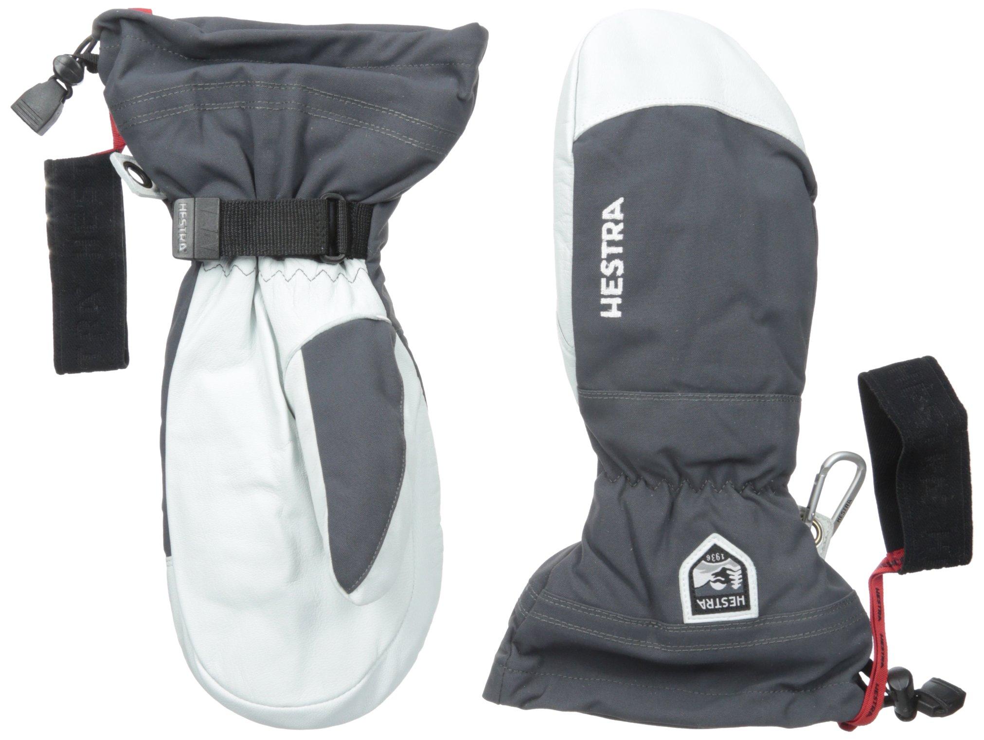 Hestra Army Leather Heli Ski Mitt, Grey, 9