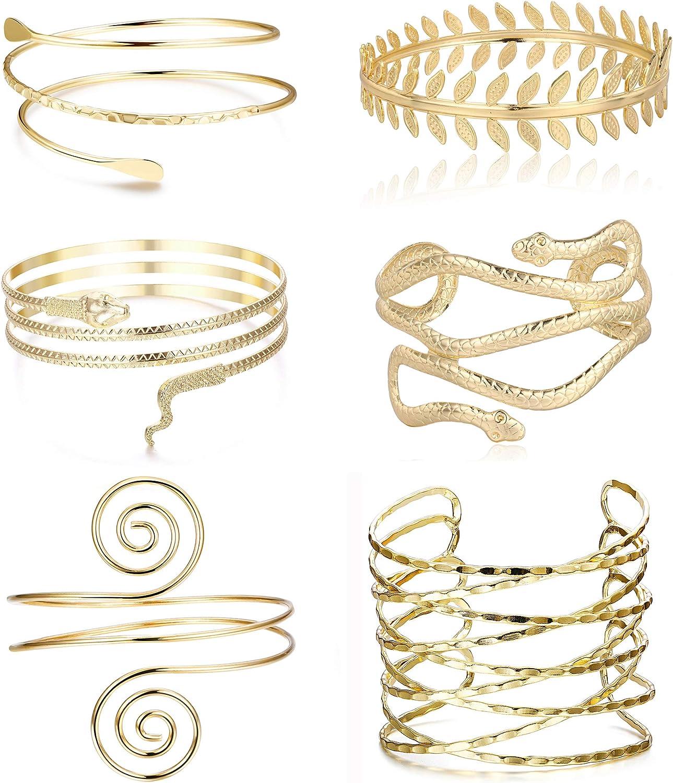 medium Asymetrical Snake Copper Armlet cuff Upper Arm bracelet