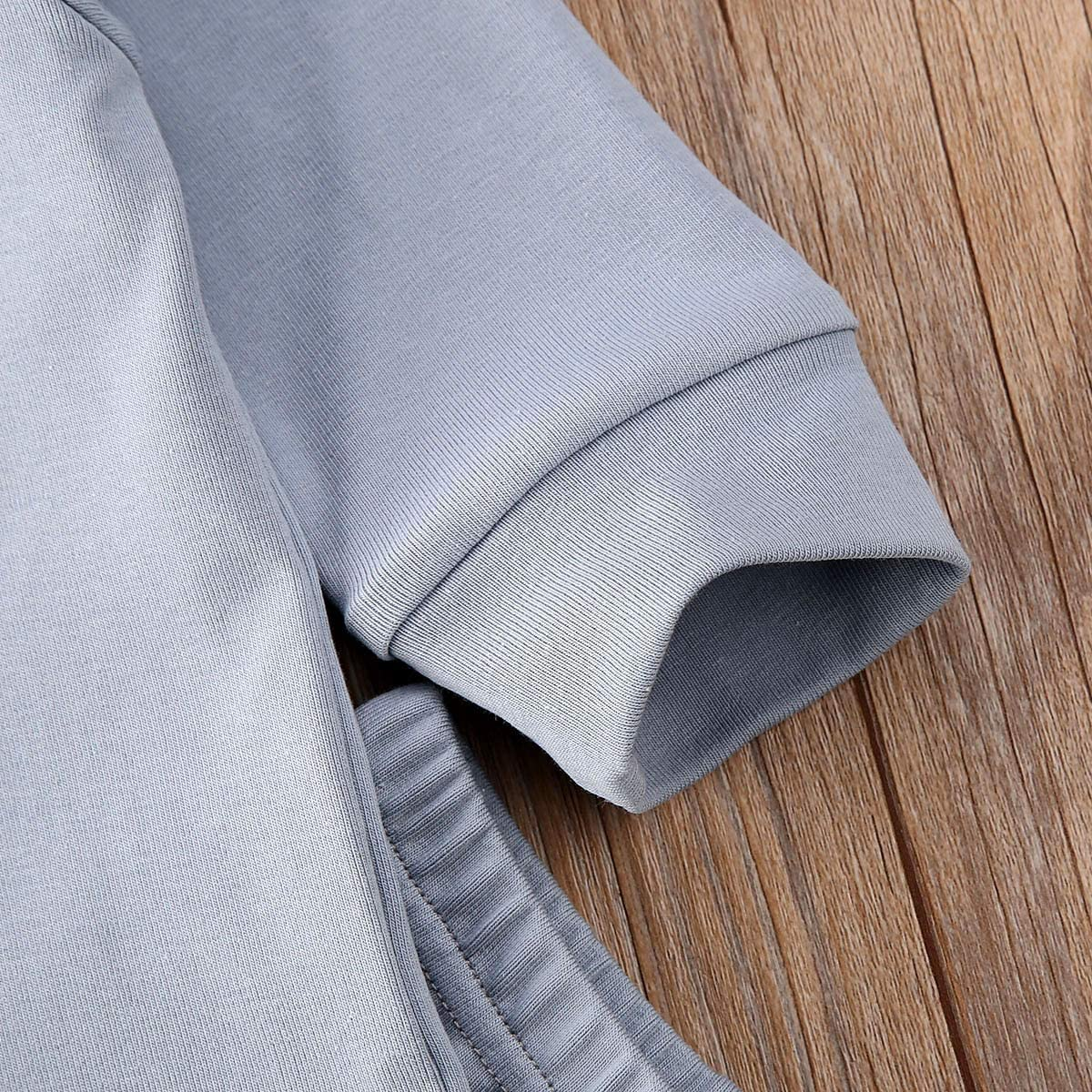 Kuriozud Baby Boy Girl Pajamas Set Organic Cotton Plain Sleepwear Infant Long Sleeve Homewear