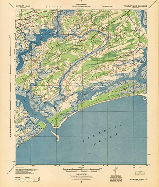 15 X 15 Minute 1:62500 Scale Updated 1955 YellowMaps Anderson Island WA topo map 20.8 x 17 in 1948 Historical