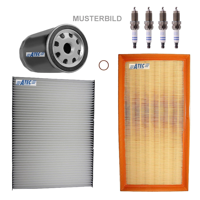 Paquete para inspección: 1x Filtro de aceite 1x Filtro de aire 1x Filtro de habitáculo 4x Bujías Original BOSCH Super Plus VR8SC+ DACIA LOGAN 1 I 1.2 16V ...