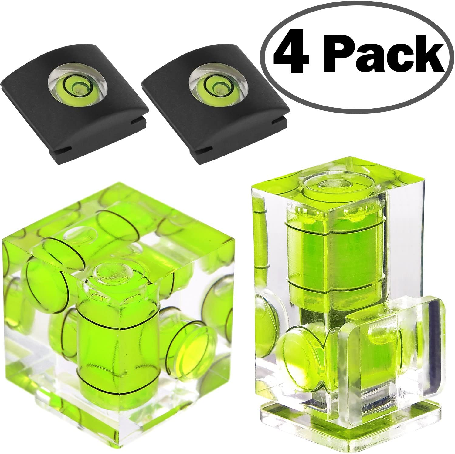 Pentax Digital and Film Cameras-4 Packs Olympus FOTYRIG Hot Shoe Level Camera Level Hot Shoe Bubble Level Hot Shoe Cover Combo Pack 3 Axis 2 Axis 1Axis for Canon and Nikon
