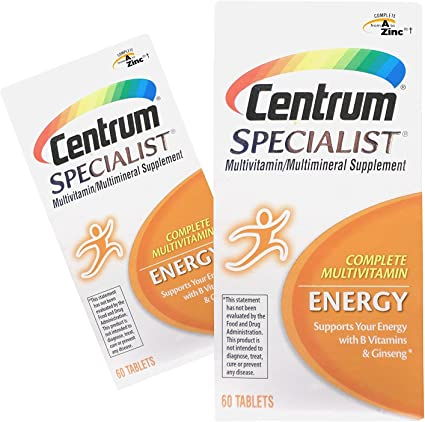 Amazon Com 2 Pack Centrum Specialist Energy Multivitamin Tablets 60 Ct Ea Health Personal Care