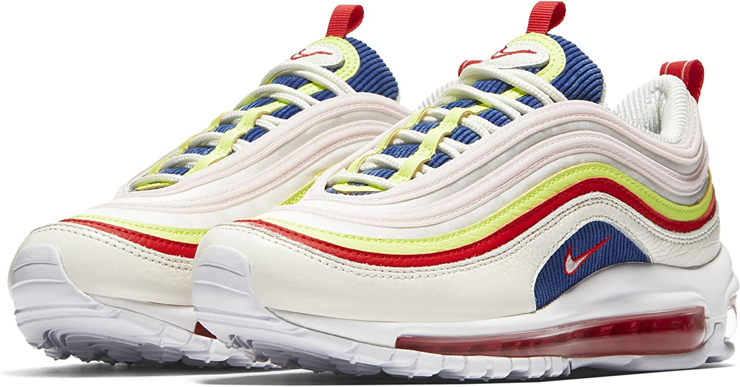 NIKE Women's Air Max 97 Special Edition Shoes SailArtic Pink Volt Glow, 9.5
