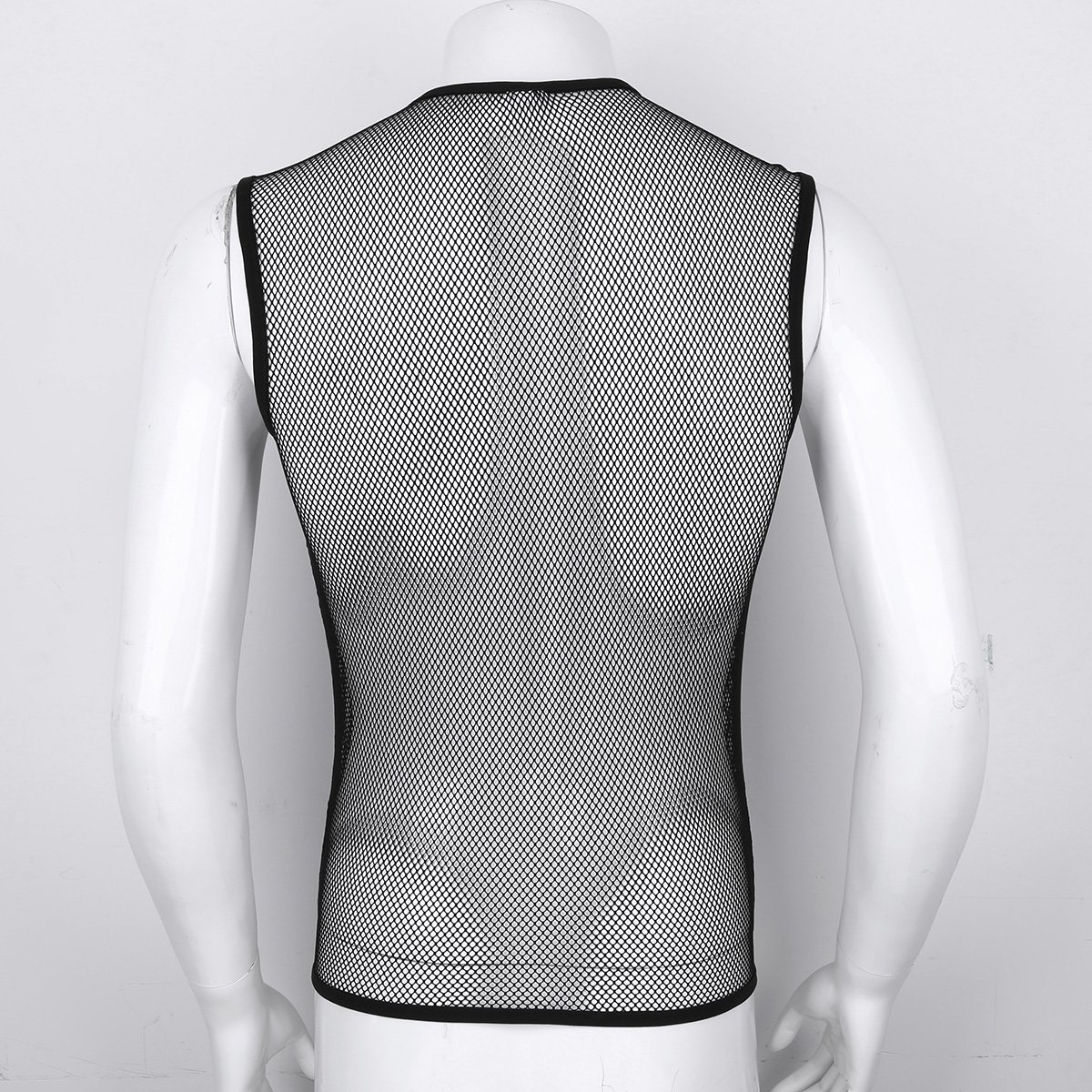 913338a2f Amazon.com: iiniim Men's Mesh See Through Fishnet Zipper Clubwear Vest Shirt  Sport Tank Top Undershirt: Clothing
