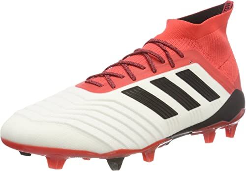 Details about Adidas Predator 18.1 FG Size 9 Football Boots Cleats White Red New Soccer CM7410