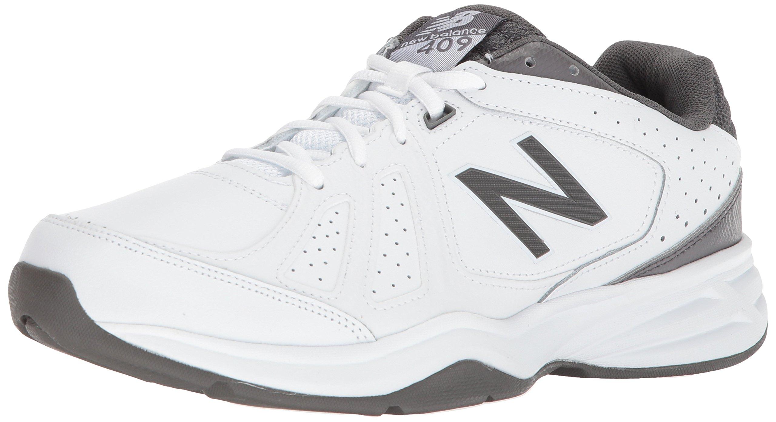 New Balance Men's mx409v3 Casual Comfort Training Shoe, White/Grey, 12 M US by New Balance