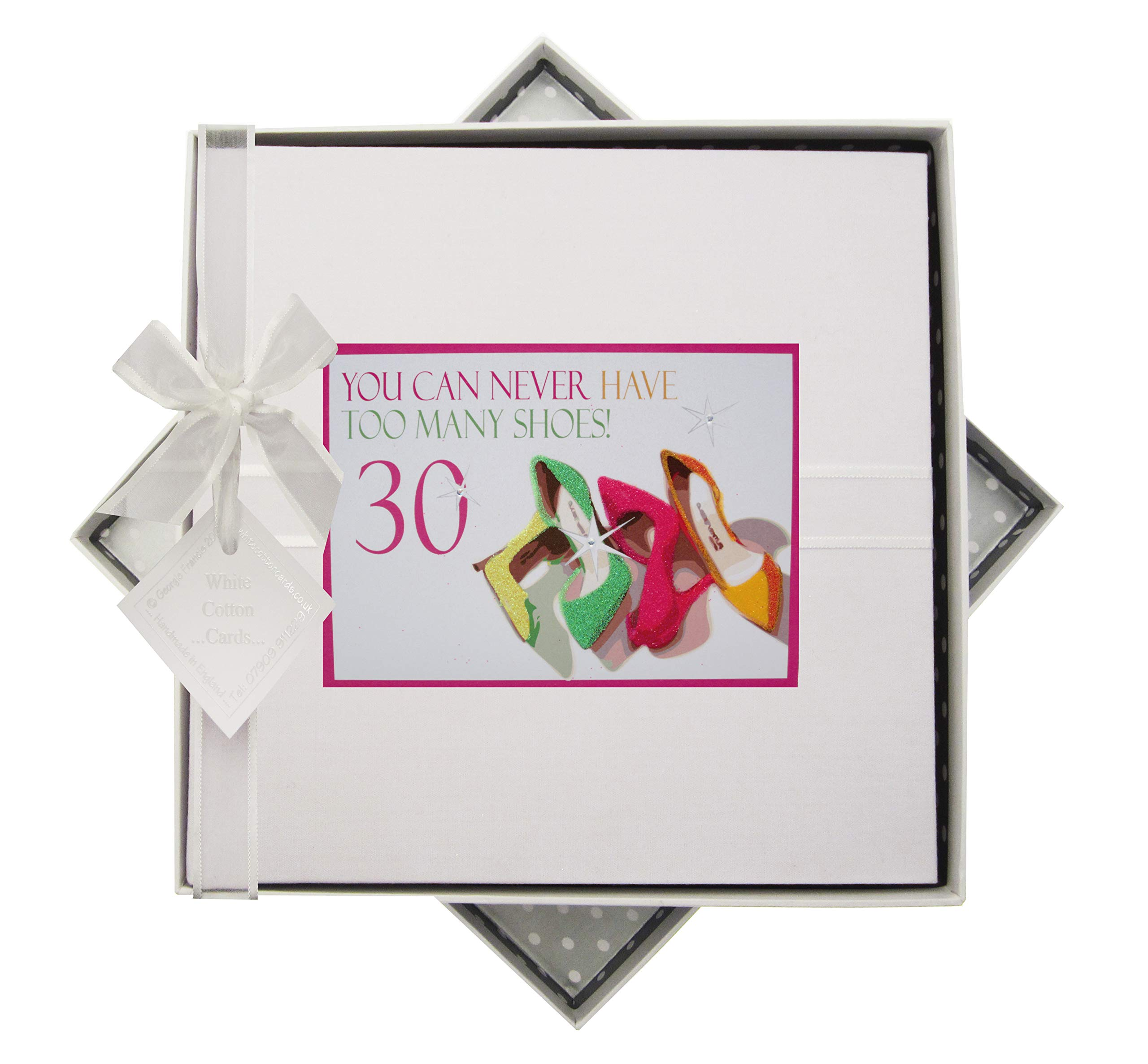 White Cotton Cards NSH30M''You can Never Have Too Many Shoes, 30'' Traditional Birthday Photo Album - Neon