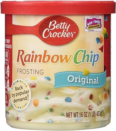 Betty Crocker Rich Creamy Rainbow Chip Frosting 16 Oz