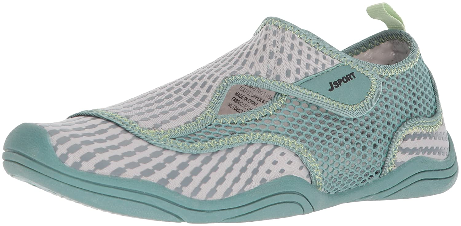 JSport by Jambu Women's Mermaid Too-Water Ready Sport Sandal B074KR1BZ1 8.5 B(M) US|Grey/Teal