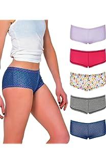 Emprella Women s Boyshort Panties (10-Pack) Comfort Ultra-Soft Cotton  Underwear 22e4181ec59