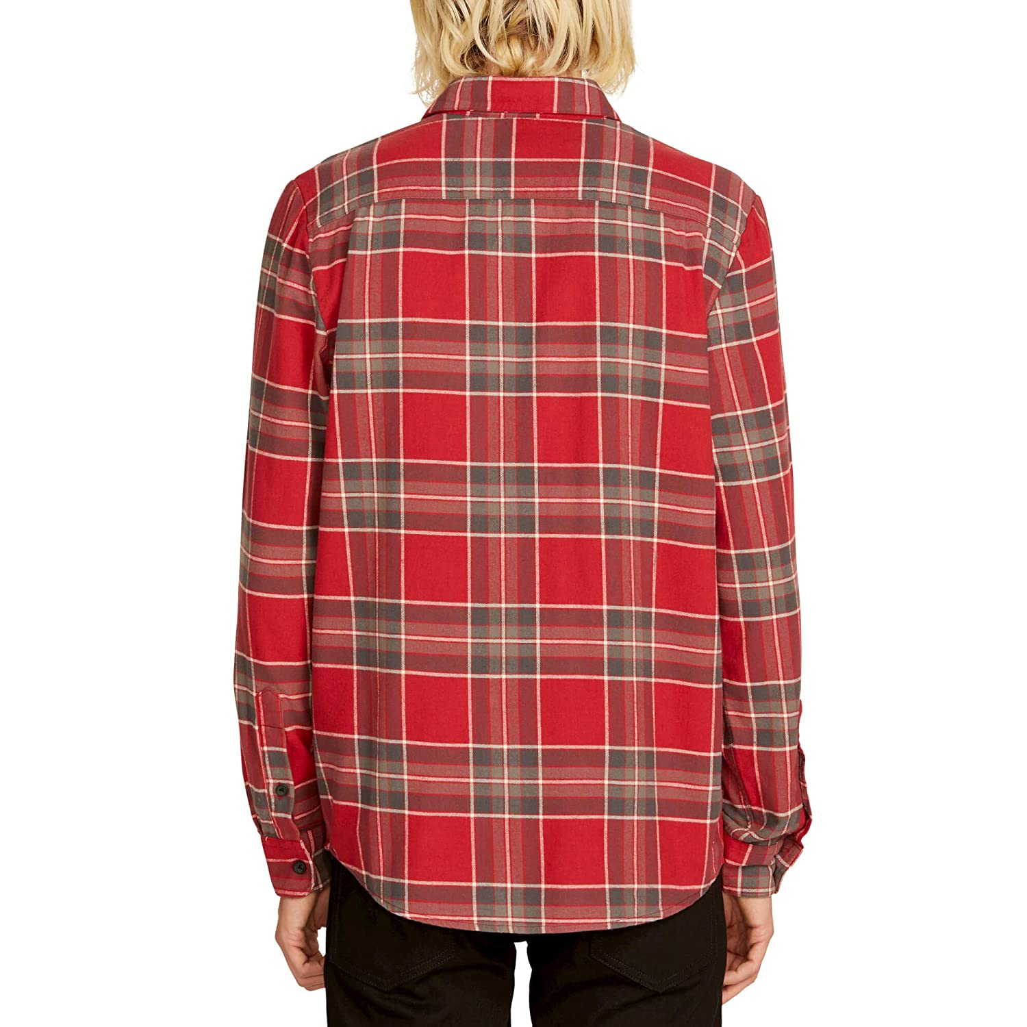 Volcom Mens Caden Flannel Plaid Long Sleeve Shirt