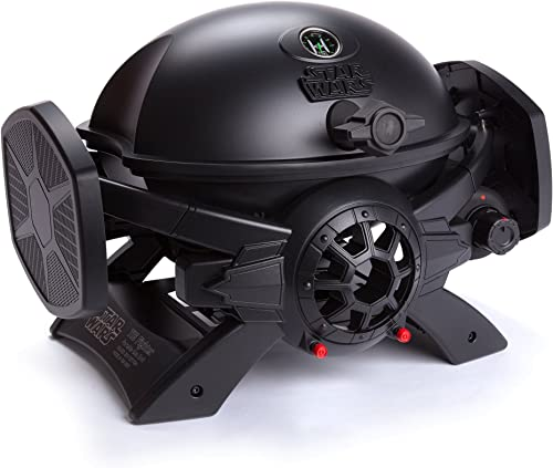 Broil Chef Star Wars TIE Fighter Gas Grill, Black, 37 x 17.75 x 15.75